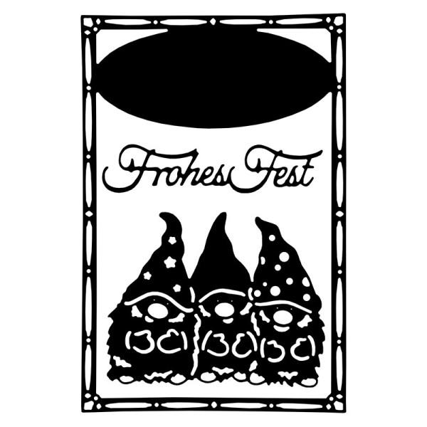 Stanzschablonen, Wichtel & Frohes Fest, 3 Stück