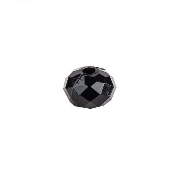 Perlen, Rondell facettiert, 0,4cm x 0,6cm, schwarz, 850 Stück