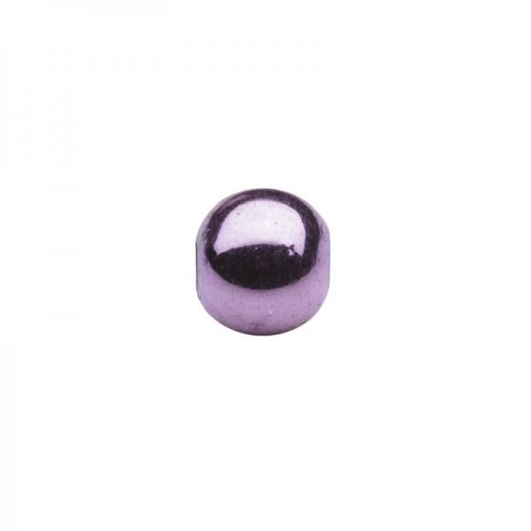 Metallic-Perlen, Ø6 mm, 50 Stück, flieder