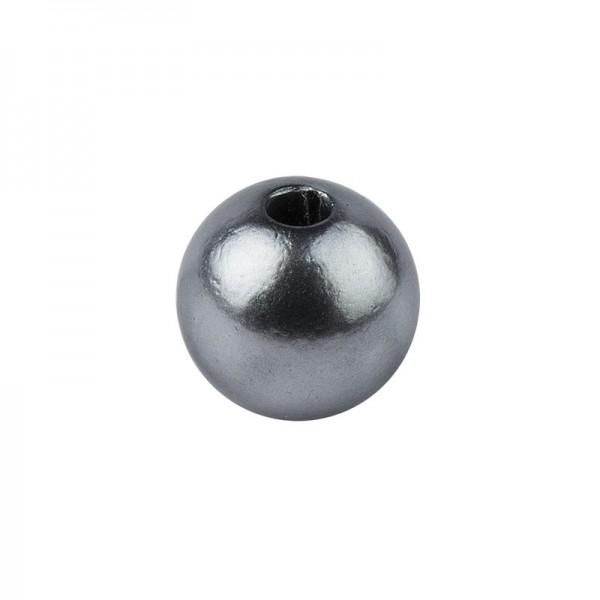 Perlmutt-Perlen, Ø8 mm, 100 Stück, anthrazit