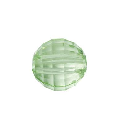 Facetten-Perlen, transparent, Ø8mm, 100 Stück, hellgrün