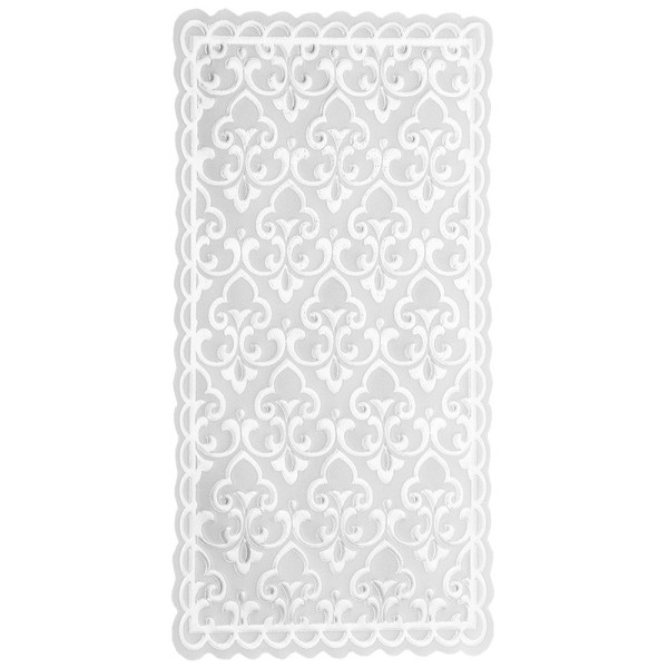 Noblesse Zierdeckchen Rechteck, Transparentpapier, 13,5cm x 8,5cm, weiß, 20 Stück