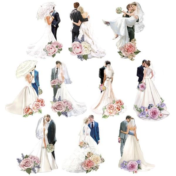 3-D Motive, Brautpaare 2, 6-11cm, 10 Motive