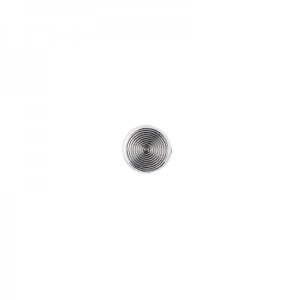 Hot-Fix Metallic-Relief-Nieten 2 zum Aufbügeln, Ø 6mm, silber, 100 Stück