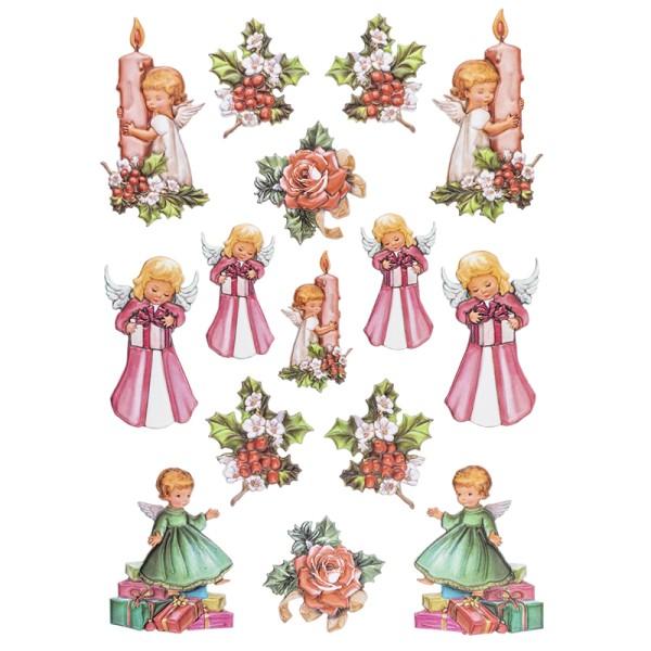3-D Relief-Sticker, Engelchen 3, versch. Größen, selbstklebend