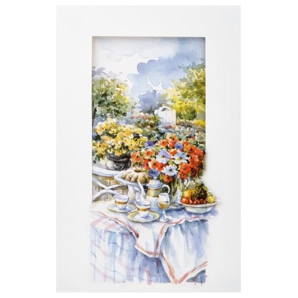 3-D Grußkarte mit Umschlag, 19 x 12 cm, Picknicktisch