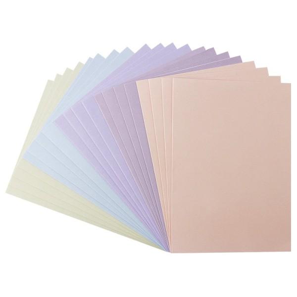 Karteneinleger, 15,5cm x 11cm, Pastelltöne, 20 Stück