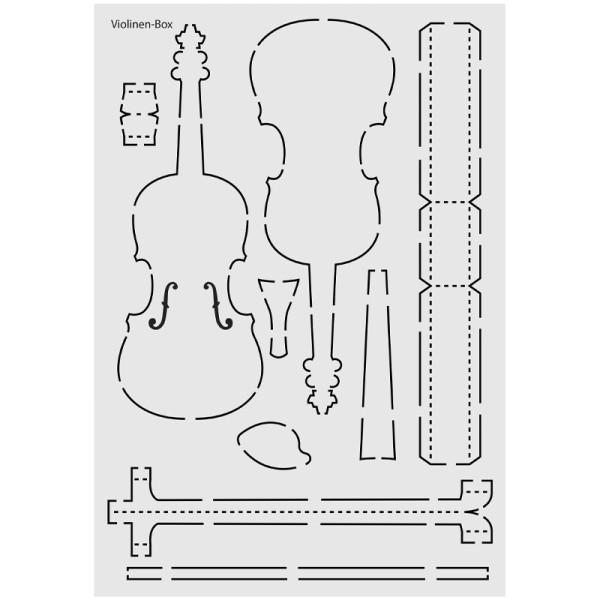 """Design-Schablone Nr. 8 """"Violinen-Box"""", DIN A4"""