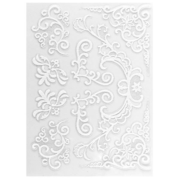 Velours-Stickerbogen, 15 x 11cm, Ornamentik, Design 4