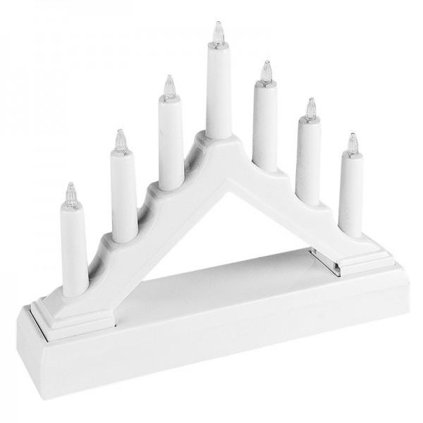 LED-Lichterbogen, 15,6cm x 13cm x 3,8cm, inkl. Timerfunktion, weiß
