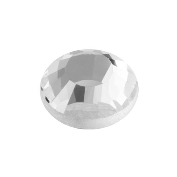 Hot-Fix Glas-Kristalle zum Aufbügeln, Ø8mm, 100 Stk., transparent