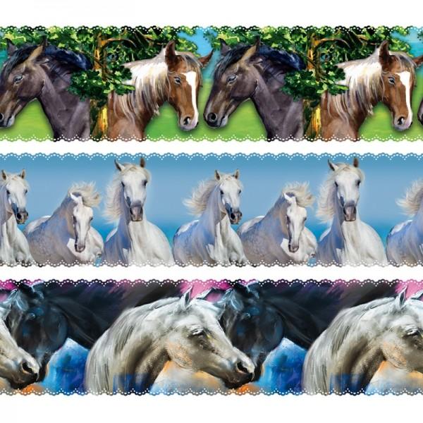 """Zauberfolien """"Pferde"""", Schrumpffolie für Ø10cm, 9cm hoch, 6 Stück"""