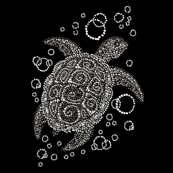 Bügelstrass-Design, DIN A4, mehrfarbig, Schildkröte
