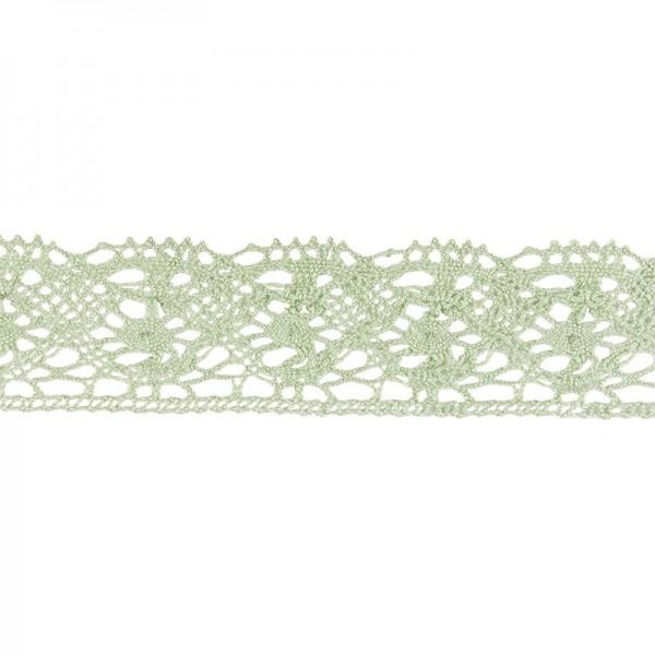 Häkelspitze Design 4, 2,8cm breit, 2m lang, grün