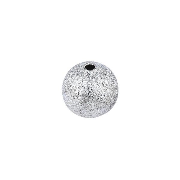 Perlen, Diamantiert, Ø 8mm, silber, 95 Stück