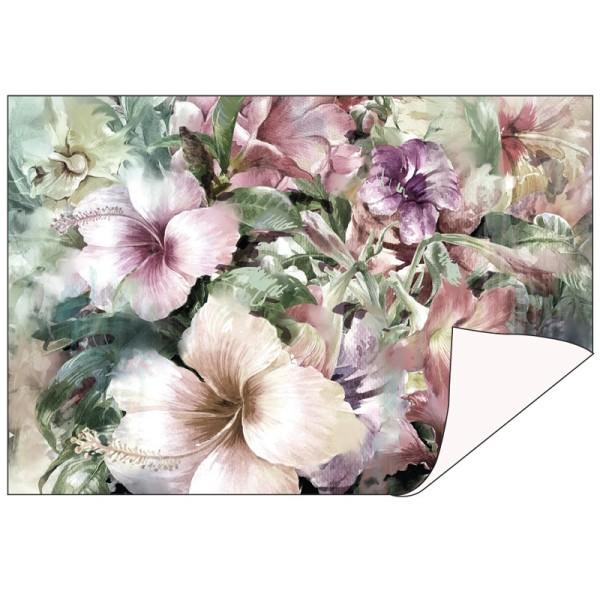 Faltpapiere Duo-Design 5, 10cm x 15cm, Blumen/creme, 50 Stück
