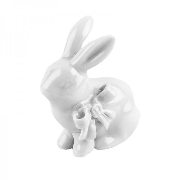 Deko-Hase, Porzellan, Design 2, weiß