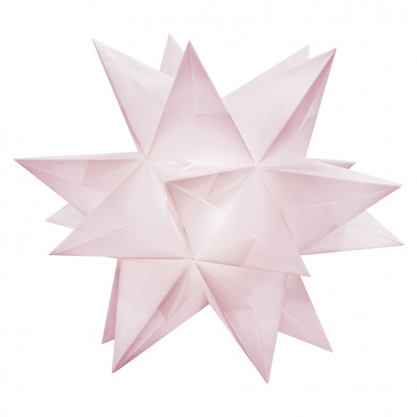Aurelio Stern Set, transparent, 15cm x 15cm, 33 Blatt, rosa