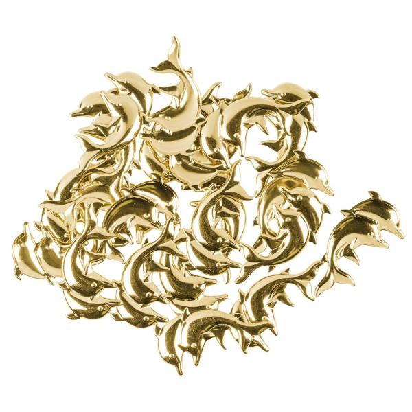 Messing Ornamente, Delfine, 20 Stück