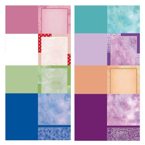 Motiv-Doppelgrußkarten, Schrift-Karten, B6, 8 Stück