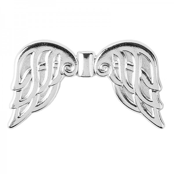 Engelsflügel, Design 6, 2,3cm, silber, 20 Stück
