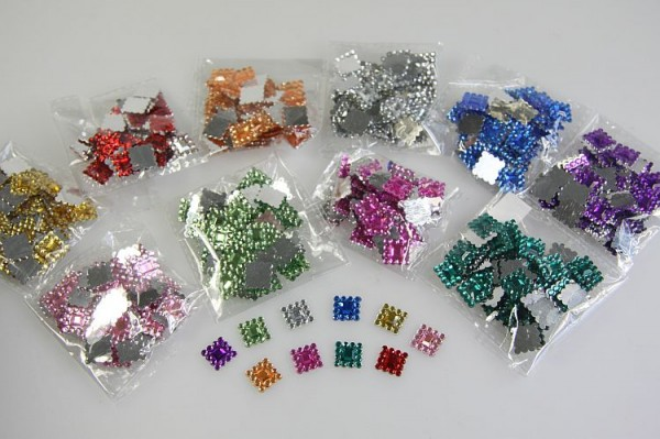 13er Strass-Steine,Quadrat,13x13mm,10er Set