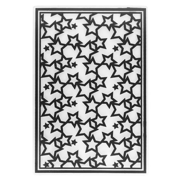 Prägeschablone, Sterne, 15cm x 10cm
