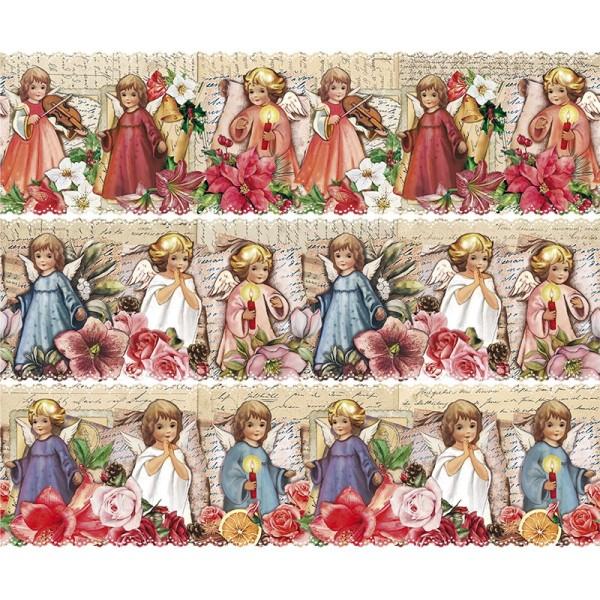 Zauberfolien, Nostalgie-Engelchen, Schrumpffolie für Ø 12cm, 11cm hoch, 6 Stück