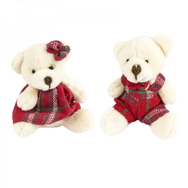 Stoff-Bären, Paul & Pauline, 5,5cm x 7,5cm, 2 Stück