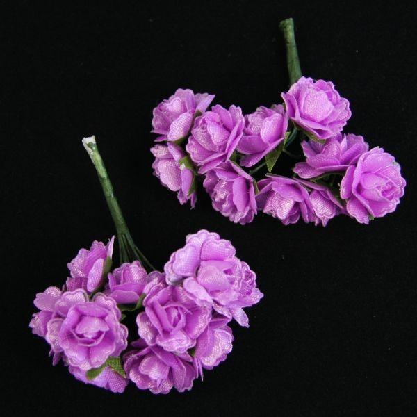 Deko-Rosensträußchen, 2 Sträuße á 10 Rosen, flieder