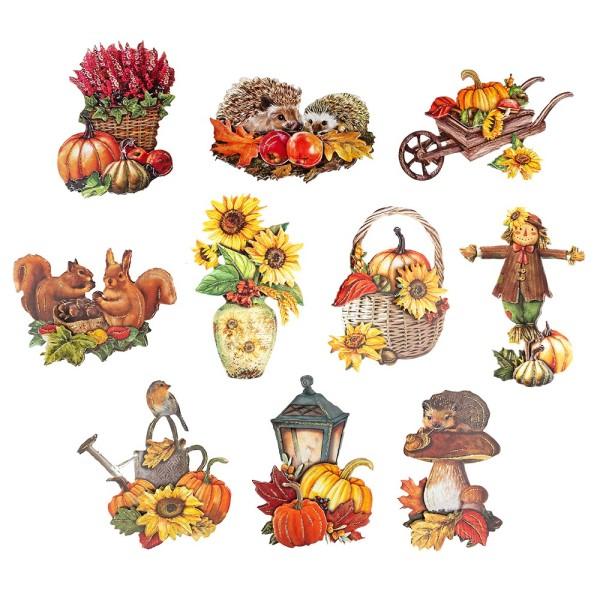 3-D Motive, Herbstzauber, 6-10,5cm, 10 Motive