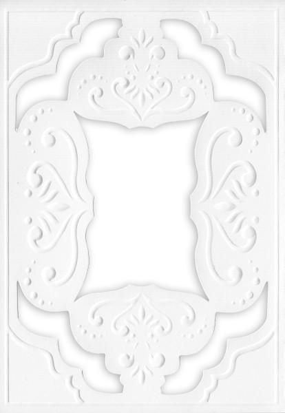 Ornamentik-Grußkarten, B6, 10 Stück, Design 3