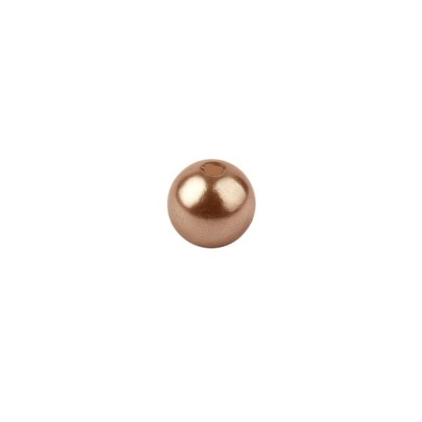 Perlmutt-Perlen, Ø4 mm, 200 Stück, antik-rosa