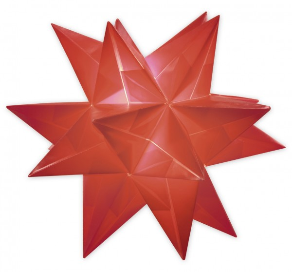Aurelio Stern Set, transparent, 20cm x 20cm, 33 Blatt, rot