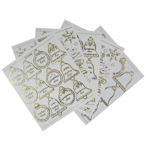 Gravur Sticker XXL, 86 Weihnachtsornamente auf 5 Bogen
