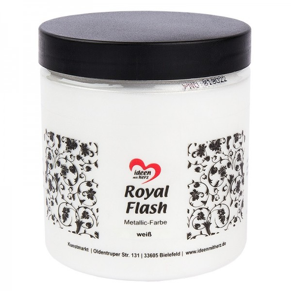 "Metallic-Farbe ""Royal Flash'"", weiß, 250 ml"