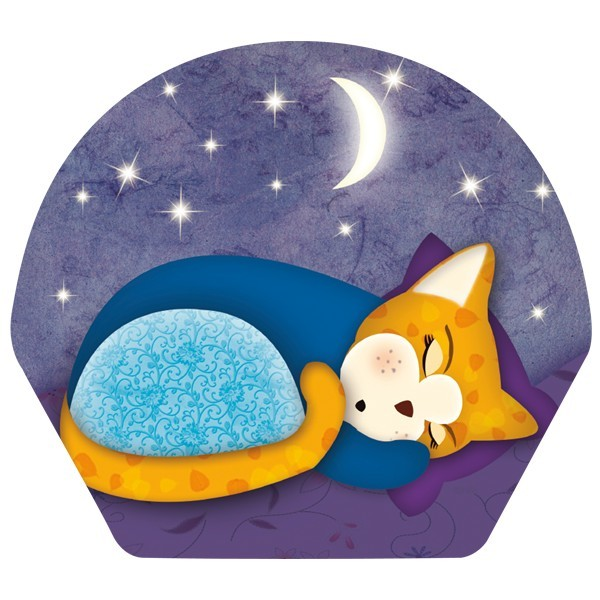 Deko-Bild, Schlafende Katze, 18,5 x 20,5 cm, 2er Set