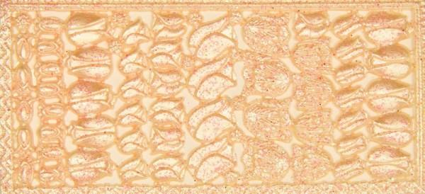 Wachsornament-Platte Tulpen, 16 x 8 cm, lachs