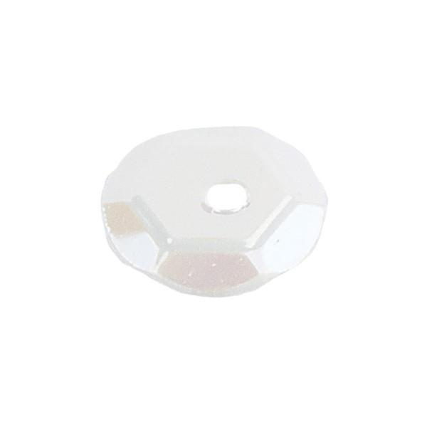 Pailletten, irisierend, 15g, Ø 6mm, weiß