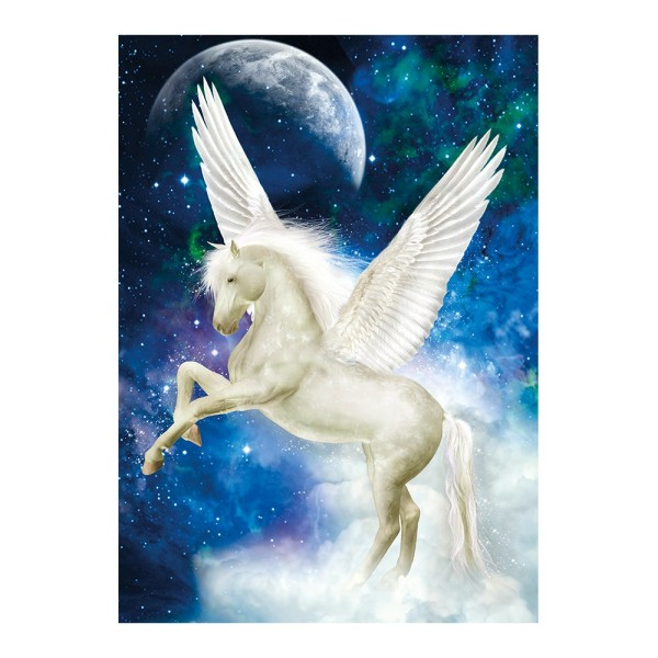 Diamond Painting, Pegasus, 25cm x 35cm, Motivleinwand, runde Steinchen, inkl. Werkzeug