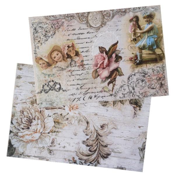 Reispapiere, Nostalgie 10, DIN A4, 2 Designs