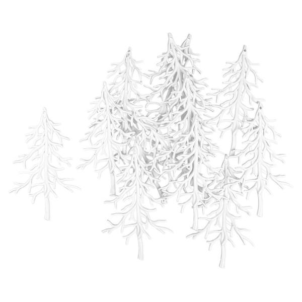 Deko-Tannenbäume 4, Rohlinge, 9,5cm x 15cm, 13 Stück