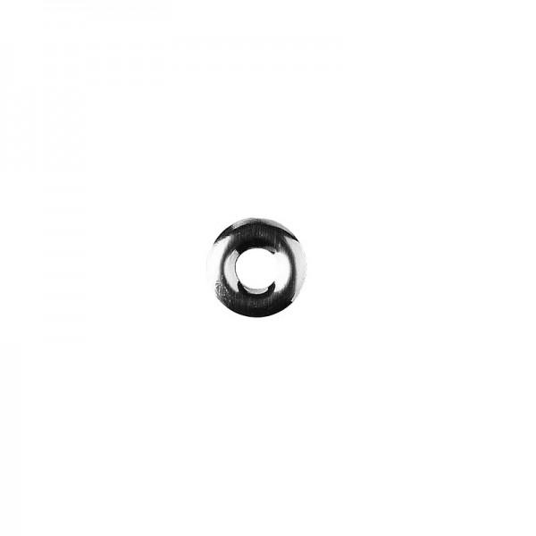 Hot-Fix Ring-Nieten zum Aufbügeln, Ø 10mm, silber, 100 Stück