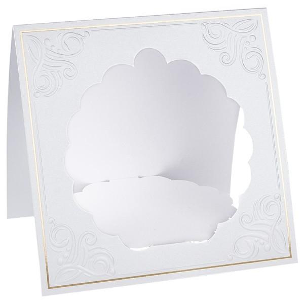 Podest-Grußkarten, 16cm x 16cm, 10 Stück, inkl. Umschläge