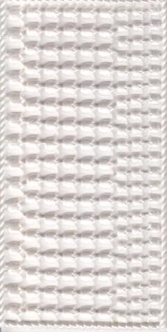 Wachsornament-Platte Maiglöckchenblüten, 16 x 8 cm, perlmutt