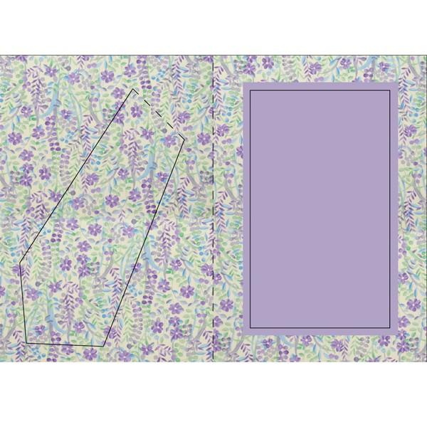 Bilderrahmen-Karte, Flower Power, B6
