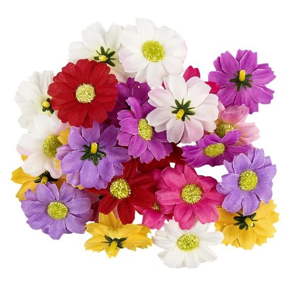 """Deko-Blüten """"Margerite 2"""", Ø 4cm, verschiedene Farben, 27 Stück"""
