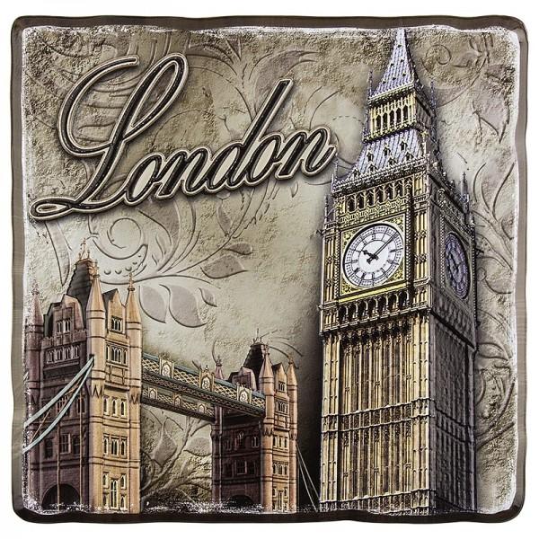 Relief-Sticker, Nostalgie London, 18 cm x 17,5 cm