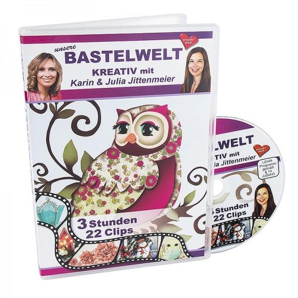 DVD, Unsere Bastelwelt, 22 Clips, 186 min, J. & K. Jittenmeier