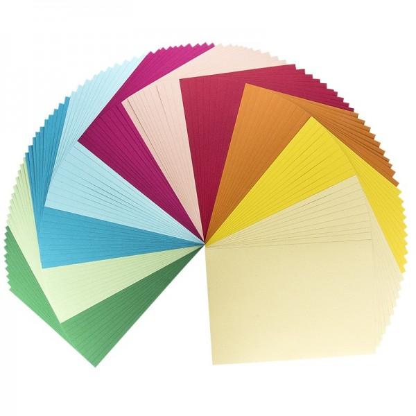 Deko-Karton, Leinenoptik, 10 Farben, DIN A4, 100 Blatt